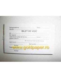 BILET VOIE